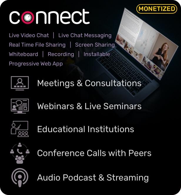 Connect - Jitsi, Zoom, Meet, Meeting, Zoom Alternative