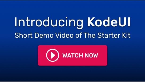 KodeUI - Laravel, VueJS, Bootstrap - SPA Admin Starter Kit - Demo Video